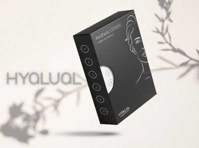 Design pack for hyalual.ua designpack boxdesign cosmetics plastics packing packing design print clean packdesign