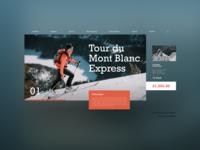 Mountain tour landing page landing ecommerce ux ui ski snowboard snowman snow tours tourist tourism tour mountains mountain bike