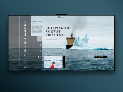 landing page for Norway shipping company