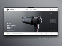 Hair dryer landing page!