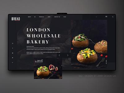 Bread_bakery branding luxury ui  ux webdesign brand landing page web ux design ecommerce store landing ux ui dinner restourant bread bakery