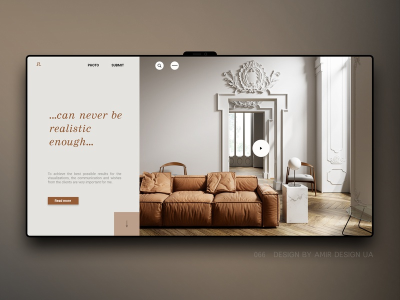 Interier minimal nordic product furniture site studio architect clean ui  ux webdesign luxury loft modern interior landing page ecommerce ux design store ux ui
