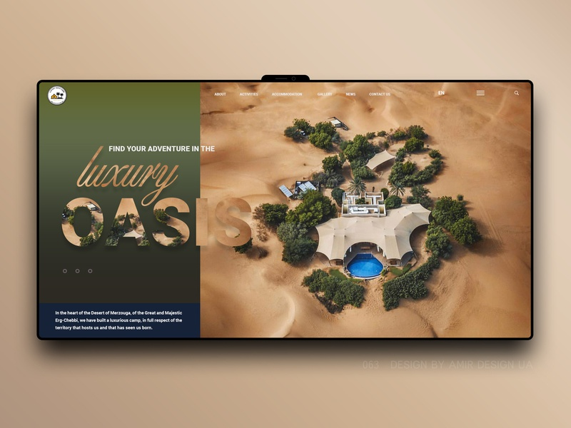 Oasis_luxury simple interface minimal branding ux design landing page brand webdesign ecommerce booking trip travel agency travel ui ux store landing redesign oasis luxury
