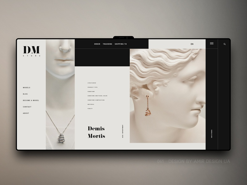 redesign jewelry store DM ux design branding web landing page modern clean luxury brand webdesign shopify ecommerce ui ux landing jewelry logo jewelry design jewelry store jewelry shop redesign jewelry