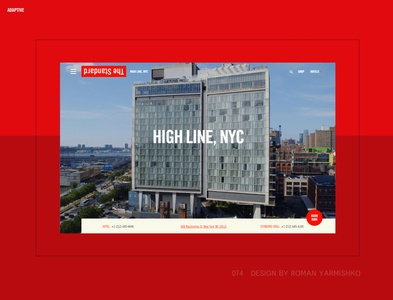 standardhotels.com brand webdesign landing page store landing ux ui flat clean house apartment ecommerce hotel