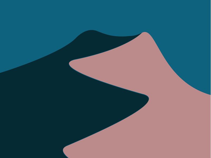 The Ridge minimalist dune drawing sketch graphic design vector illustrator illustration