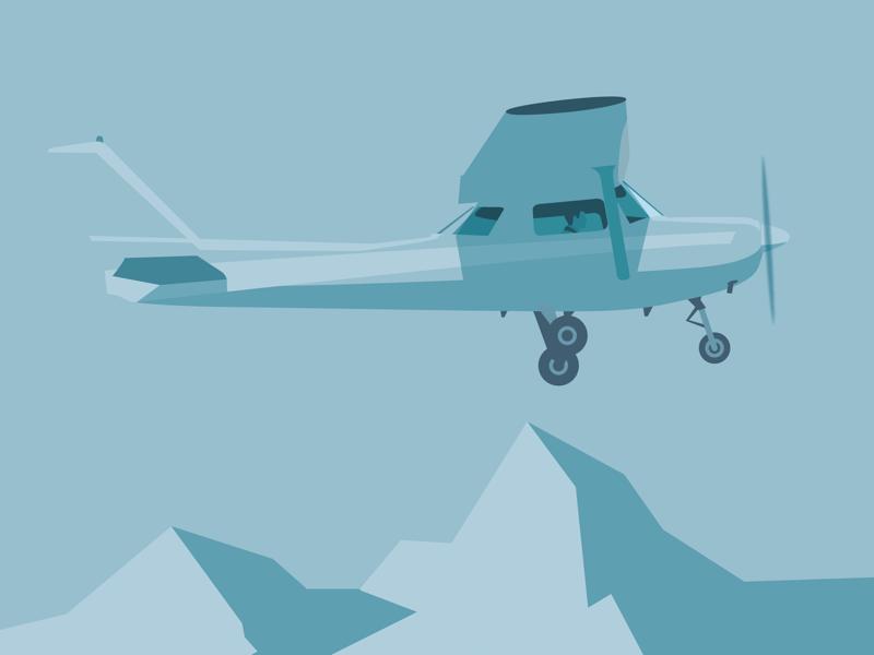 Flying high color 2d plane sketch drawing wacom adobe icon vector blue clean minimal flat illustrator illustration