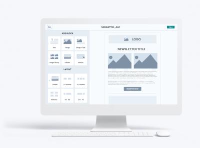 Newsletter tool design ux