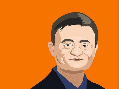 CEO of AliBaba - Jack Ma portrait vector jack ma alibaba