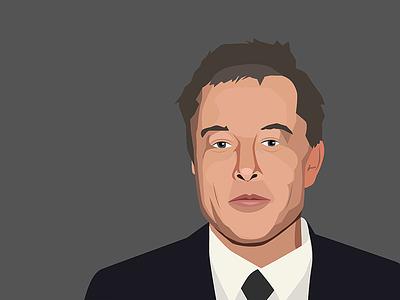 Elon Musk portrait low poly portrait vector ceo musk spacex