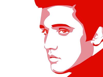 Elvis Presley portrait vector song presley elvis