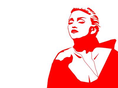 Madonna song birthday red portrait singer madonna