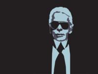 Karl Lagerfeld vector portrait