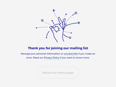 Subscriber Thank You ui website line lineart hand ok thank you mailing newsletter subscribe
