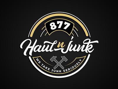 Haul N Junk vintage services hammer company logo removal junk