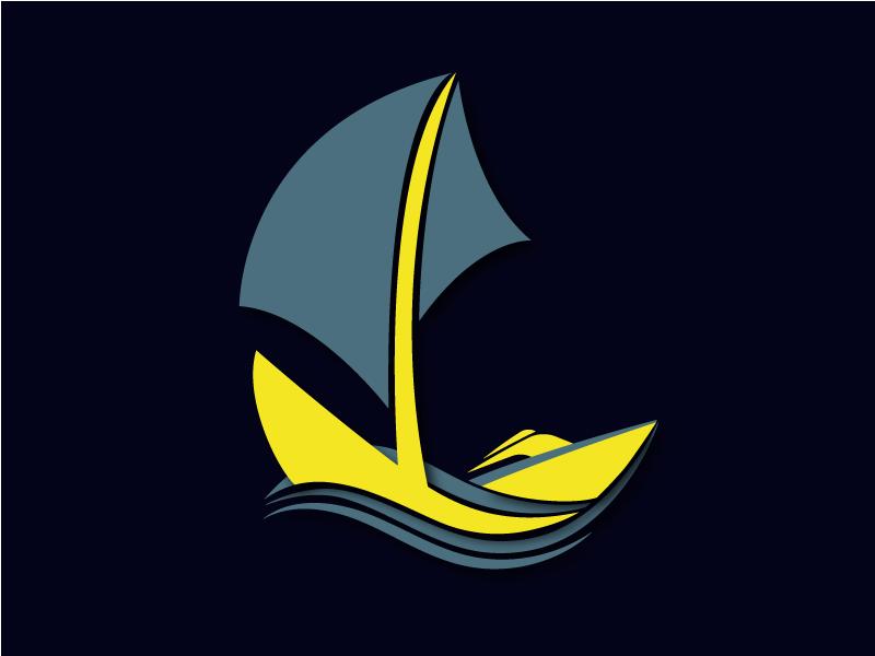 Philadephia Yacht Club  Logo club water mark sail logo waves sea power boat boat yacht