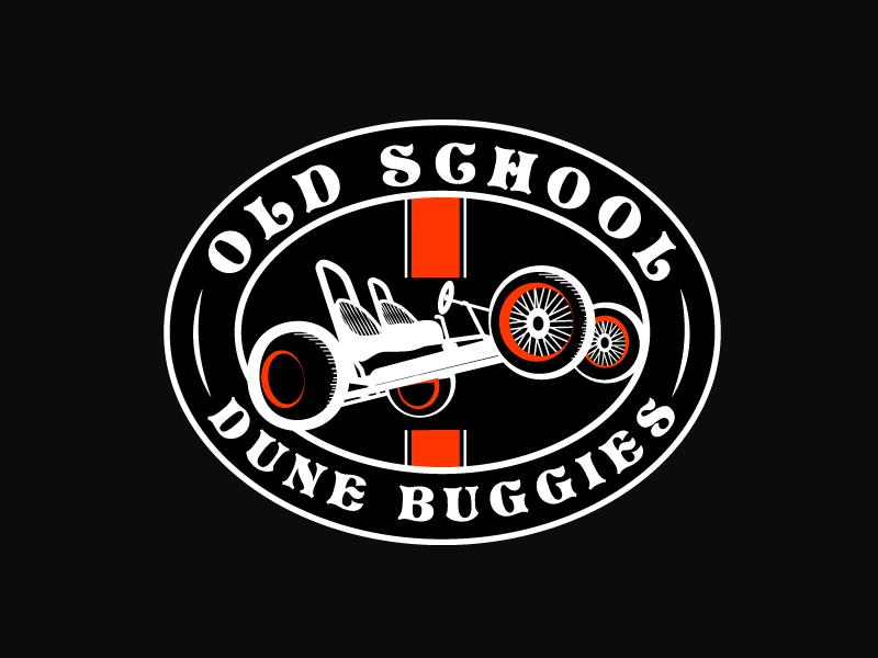 Old School Dune Buggies motor badge logo vintage dune buggies sticker old school buggy buggies