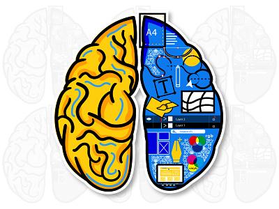 Designer's mind Wix Playoff wix playoff human illustrator creation illustration designer wix mind brain
