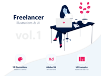 Freelancer Illustration Pack Vol 01