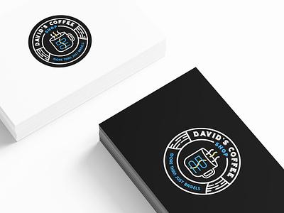 Davide's Coffee Shop Badge mock up illustrator coffee shop logo coffee shop bagels brand icon vintage logo vintage badge