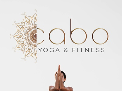 Kabo Yoga identity design branding logo vintage design illustration logotype fitness mandala yoga logo