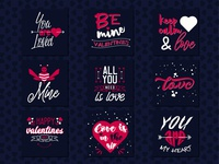 FREE DOWNLOAD Set of 9 Valentine's romantic phrases