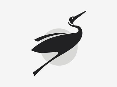 Crane bird animal branding mark logo