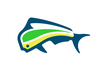 Dorado Mark native branding fish mark fish mahi-mahi negative space mark logo