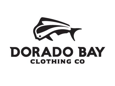 Dorado Bay negative space mark fish typography