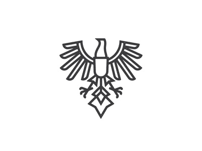 Phoenix Eagle thick lines phoenix outlines mark logo germany feathers eagle bird
