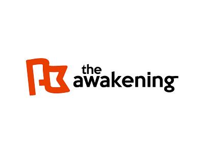 The Awakening 2 thick lines logo flag banner mark