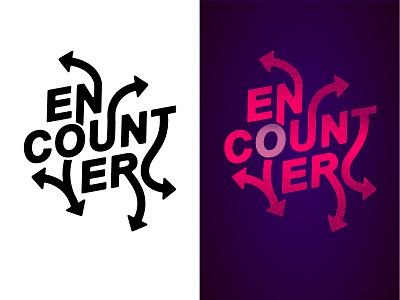 Encounter Type graffiti bold movement font type arrow typography