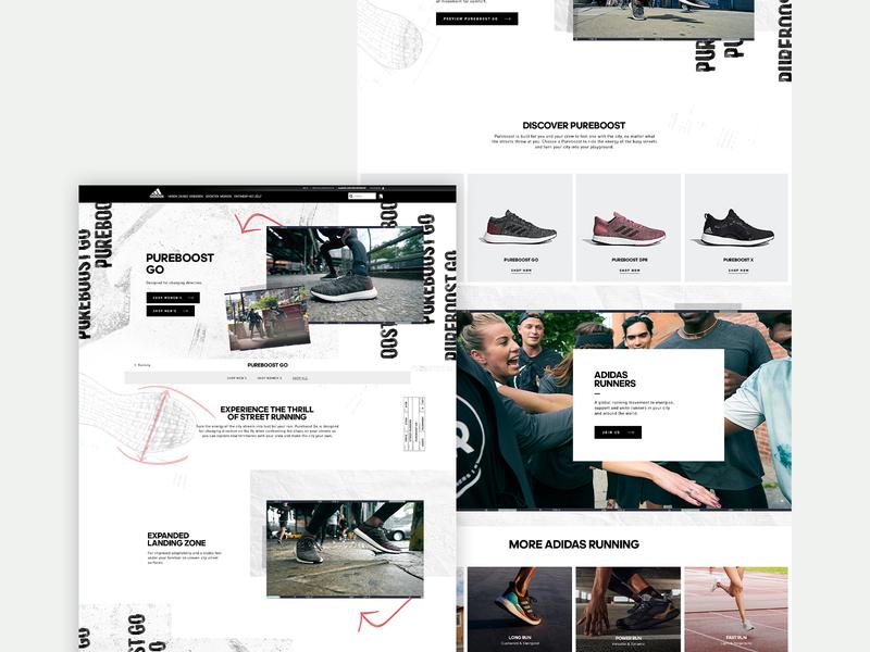 PureBoost Go - Desktop shoes running adidas interface digital design