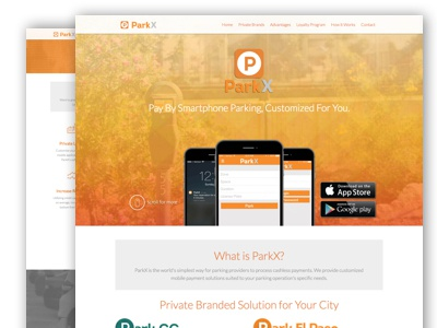 ParkX foundation responsive web design