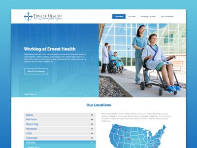 Ernest Health Career Site Mock