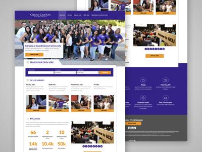Grand Canyon University - Career Site design website responsive foundation