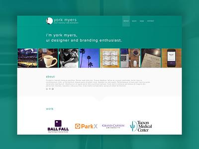 Portfolio site concept portfolio website ux ui
