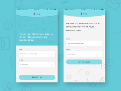 Reminder App - WIP design fun wip reminder app ios ui ux