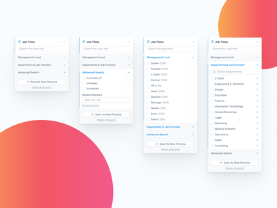 Filters - Tweaked advanced search title filter forge filter open selection select by select search by search ui saas strategy check checkbox sort by sort filter ui filtering filters filter