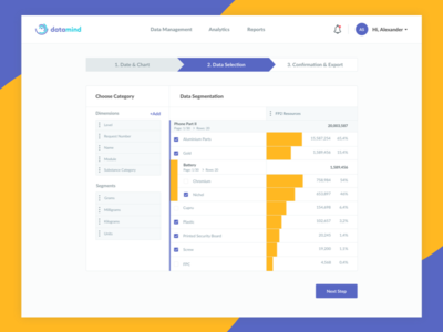 Data Segmentation design strategy strategy saas analytics metrics report builder report dashboard data segmentation