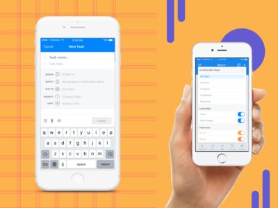 Filter / New Task - Mobile