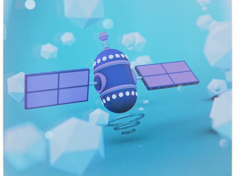 Satellite lens distortions afterlight vsco plastic toy satellite space c4d cinema4d