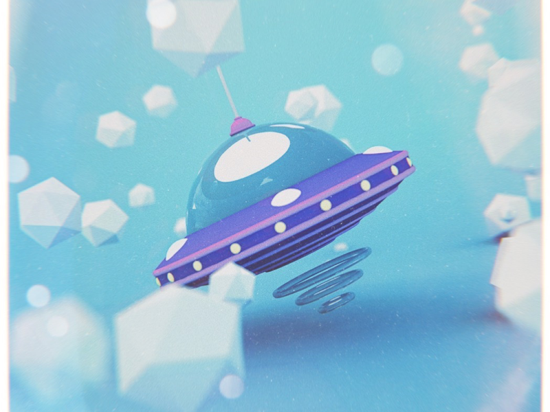 UFO area51 nasa space plastic toy cgi c4d cinema4d ufo
