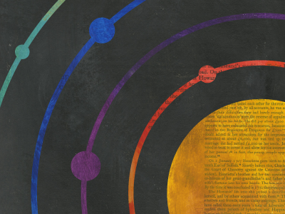 Solar System Style Frame style frame solar system sun planets space