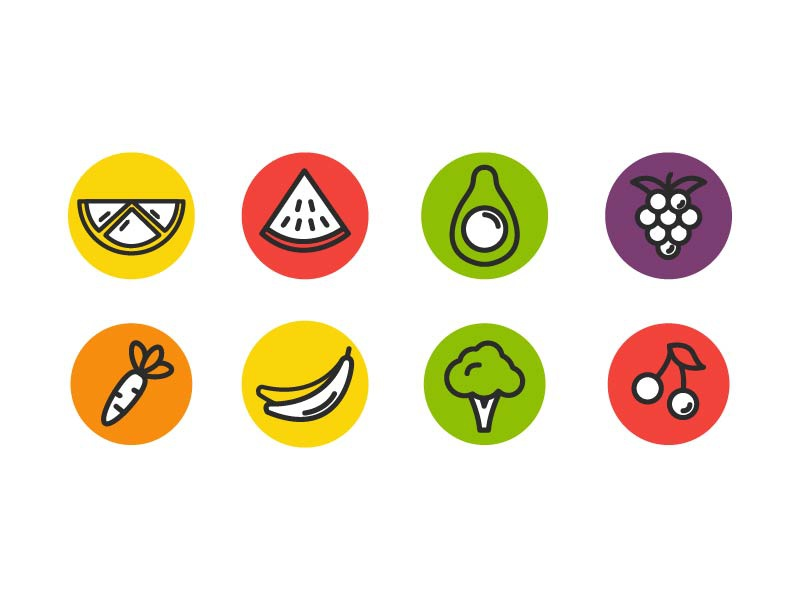 Fruit vegetable free icon dribbble 01