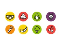 FREE Fruit and Vegetables Icons