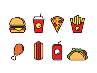 Fast food icons free 02