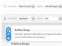 WordPress Admin for Food Menus
