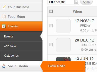 Custom WordPress UI custom wordpress ui interface dashboard menu css3 admin cms