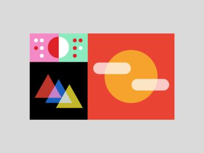 Golden Hour google golden ratio goldenratio design digital illustration shapes minimalism swissminimalism graphicdesign pattern